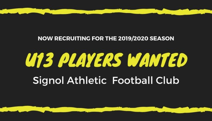 Under 13s players wanted