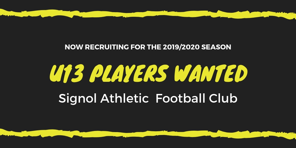 New Under 13s Players Wanted