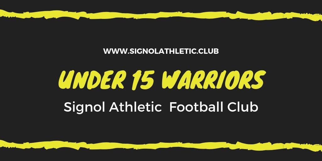 Under 15 Warriors