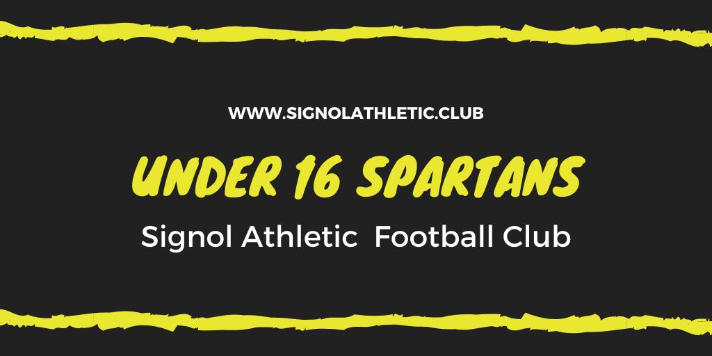 Under 16 Spartans 2020 – 2021 Season